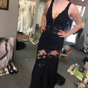 Navy Blue Jovani Prom dress